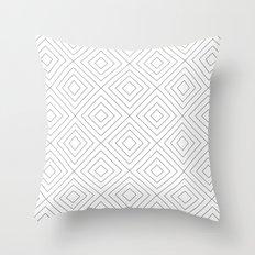Squares white Throw Pillow