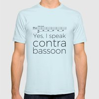 I speak contrabassoon Mens Fitted Tee Light Blue SMALL