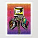 """""""Anti-Media for the Masses"""" poster Art Print"""