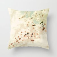 BRAVE LITTLE BLOSSOMS Throw Pillow