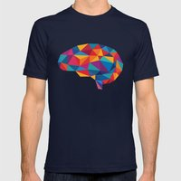 Brain Mens Fitted Tee Navy SMALL