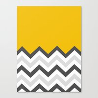 Color Blocked Chevron 17 Canvas Print