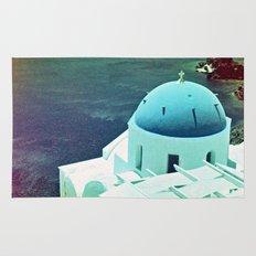 Blue Dome Church, Santorini: Shot with a Nikon FM2 and Revolog 600nm film Rug