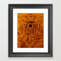 XARAXIN- Cosmic Terror Framed Art Print