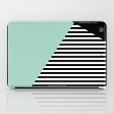 Mint Color Block with Stripes // www.penncilmeinstationery.com iPad Case