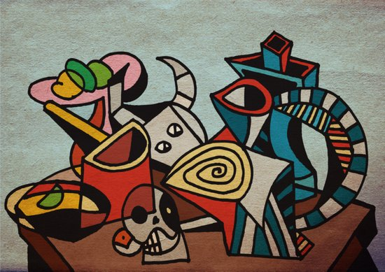 Still Life in Cubism Art Print