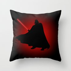 Vader Sithouette Throw Pillow