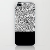 Dots And Black iPhone & iPod Skin