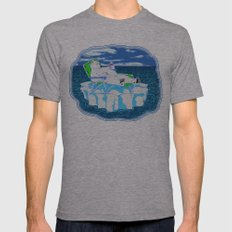 More Ice Please Mens Fitted Tee Athletic Grey SMALL