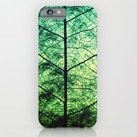 iPhone & iPod Case featuring Macro Leaf - for iphone by Simone Morana Cyla