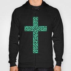 Mint Leopard Cross Hoody