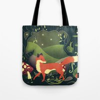 Tote Bag featuring protector of the innocent by Lynette Sherrard Illustration and Design