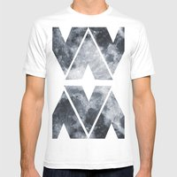 BLACK MOON Mens Fitted Tee White SMALL