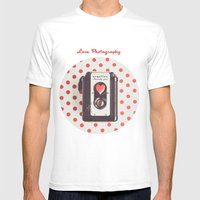 Love Photography Mens Fitted Tee White SMALL