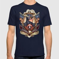 FOREVER YOUNG Mens Fitted Tee Navy SMALL