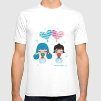 Love Bubbles Mens Fitted Tee White SMALL