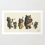 Bear Music Art Print