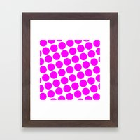 BIG PINK DOT Framed Art Print