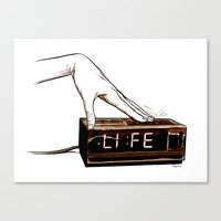 Life on snooz Canvas Print