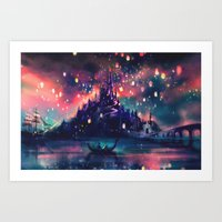 keep calm Art Prints featuring The Lights by Alice X. Zhang