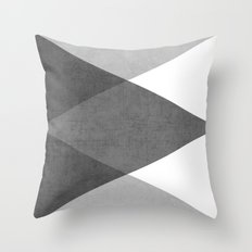 black and white triangles Throw Pillow