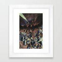PENGUINS WITH POWERS Framed Art Print
