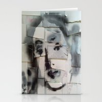 BRICKED VENUSIAN FACE Stationery Cards