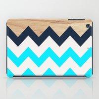 Chevron & Wood iPad Case