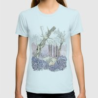 1/3 Magic Feral Woods Womens Fitted Tee Light Blue SMALL