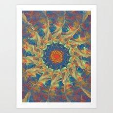 Spiritual Pinwheel Art Print