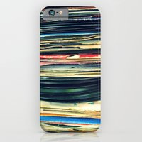 iPhone Cases featuring put your records on by Bianca Green