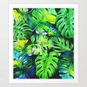 tropical plant Art Print