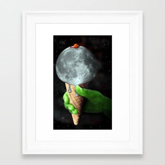 Lunar Sundae Framed Art Print