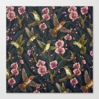 Hummingbird Pattern Canvas Print