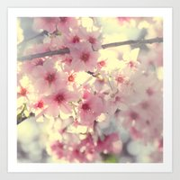 cherry blossom Art Prints featuring cherry blossom by Bunny Noir
