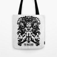 Fox McCloud Star Fox Inspired Geek Psychological Inkblot Tote Bag