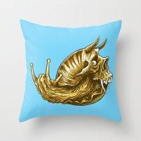 rock & snail  Throw Pillow