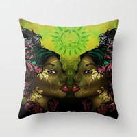 Ital Twins Throw Pillow