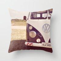Campervan Throw Pillow