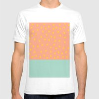 Peach Fuzz And Pit Mens Fitted Tee White SMALL
