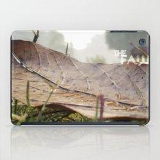 Dew drops on a fallen leaf iPad Case