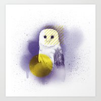 The Calm Owl Art Print