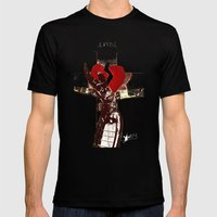 Crucified Mens Fitted Tee Black SMALL