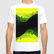 Vibrant Wasteland Mens Fitted Tee White SMALL