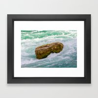 Solid as a rock Framed Art Print