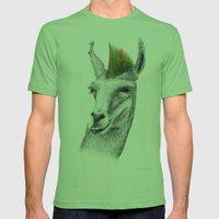 Llamahawk Mens Fitted Tee Grass SMALL