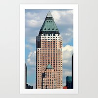 New York Father/Son Buil… Art Print