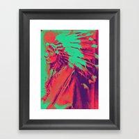 Melting Coyote Framed Art Print