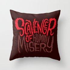Scavenger of Human Misery Throw Pillow
