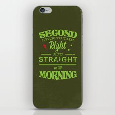 Second Star to the Right - Peter Pan iPhone & iPod Skin
